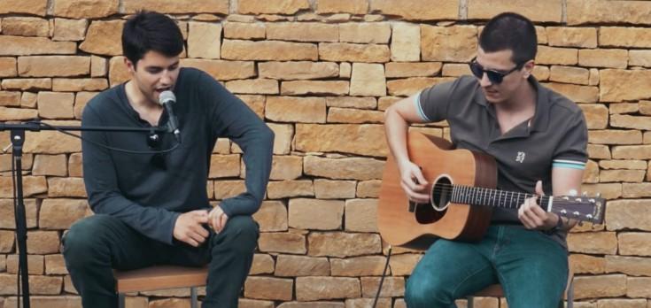Christos Floros and Loucas Bretz (ARCO DEUM) performing Live from the Garden